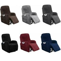 4 PCS Stretch Recliner Slipcover Fit Furniture Chair Lazy Bo