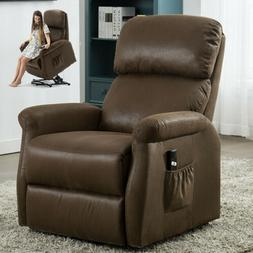 Electric Power Lift Recliner Chair Elderly Padded Sofa w/RC