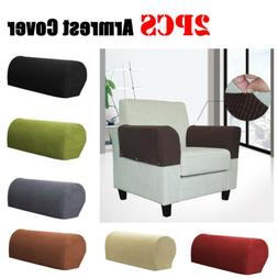 2PCS Sofa Armrest Covers Recliner Couch Arm Chair Stretch Sl
