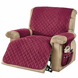 3 Piece Storage Diamond Pattern Recliner Cover