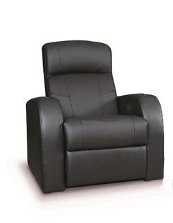 Coaster Cyrus Transitional Black Leather Theater Seating Rec