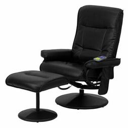 Flash Furniture 7320 Leather Massaging Recliner with Ottoman