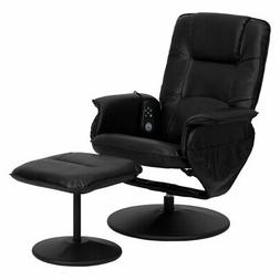 Flash Furniture 753 Leather Massaging Recliner with Ottoman