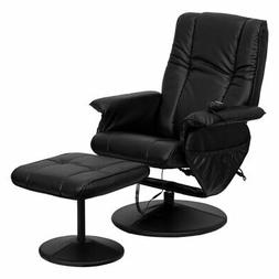 Flash Furniture 7600 Faux Leather Massaging Recliner with Ot