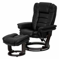 Flash Furniture 7818 Leather Swivel Recliner with Ottoman