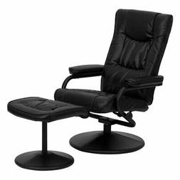 Flash Furniture 7862 Leather Swivel Recliner with Ottoman
