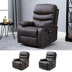 8 Massage Point Recliner Chair w/Heat and Remote Control PU