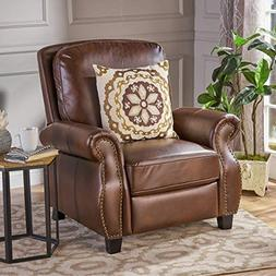 Denise Austin Home 296612 Jasmine PU Leather Recliner Club C