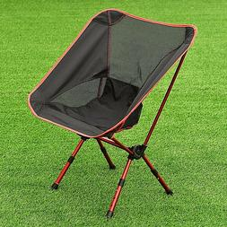 Adjustable Folding Aluminum Portable Chair W/Bag For Camping
