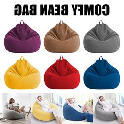 Adults Kids Large Bean Bag Chairs Sofa Cover Indoor Lazy Lou
