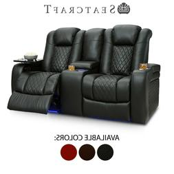 Seatcraft Anthem Leather Home Theater Seating Double Recline