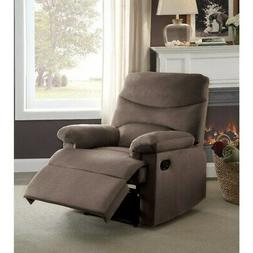Arcadia Recliner, Light Brown Woven Fabric Light brown Stand