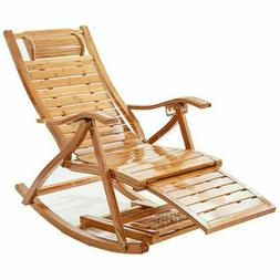 bamboo rocking chair lengthen arm chair indoor