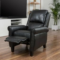 Black Faux Leather Recliner Chair Home Living Room Seating F