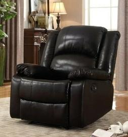 Black Leather Glider Recliner Arm Chair Recliners Armchairs