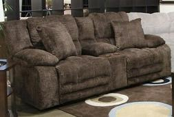 Catnapper - Branson Reclining Console Loveseat in Chocolate