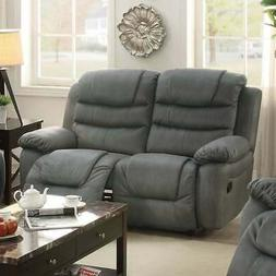 Breathable Leather, Solid Pine, Plywood Reclining Love Seat,