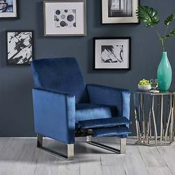 Christopher Knight Home Brightwood Blue Velvet Recliner