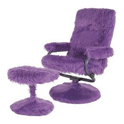 FLASH FURNITURE BT-70621-FUR-PUR-GG East Side Recliner/Ottom
