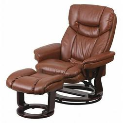 FLASH FURNITURE BT-7821-VIN-GG Brown Leather Recliner-Ottoma