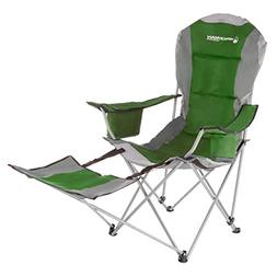 Wakeman Outdoors Camp Chair with Footrest-300lb. Capacity Re