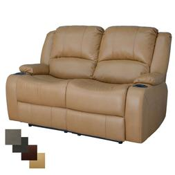 """RecPro Charles 58"""" Powered Double RV Wall Hugger Recliner So"""