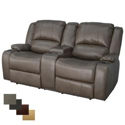 """RecPro Charles 67"""" Powered Double RV Wall Hugger Recliner So"""