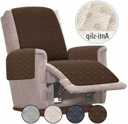 Chocolate Anti-Slip Oversized Recliner Cover Slipcovers for