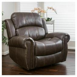 Christopher Knight Home Charlie Bonded Leather Glider Reclin