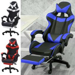 Computer Gaming Racing Chair Leather High-back Office Reclin