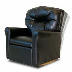 Contemporary Leather Like Child Rocker Recliner