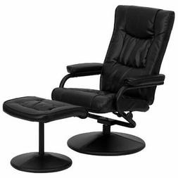 Flash Furniture Contemporary Leather Soft Recliner/Ottoman