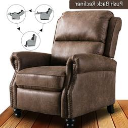 Contemporary Recliner Chair Padded Seat Push Back Single Lou