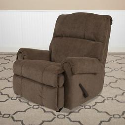 Contemporary Rocker Recliner Lounge Chair with Rolled Arms