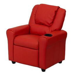 Flash Furniture Contemporary Vinyl Kids Recliner with Headre