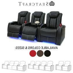 Seatcraft Delta Leather Home Theater Seating Recliners Seat