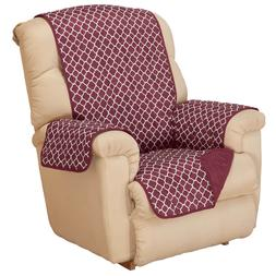 deluxe reversible fashion recliner cover by oakridge
