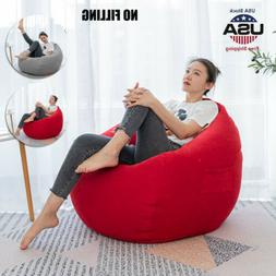 Dorm Bean Bag Chair Beanless Sofa Couch Cover Indoor Outdoor