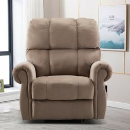 Electric Lift Heavy Recliner with Heat Therapy & Massage Pad