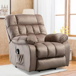 Electric lift recliner heat therapy and massage with padded