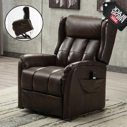 Electric Power Lift Recliner Chair Elderly Armchair Soft Lou
