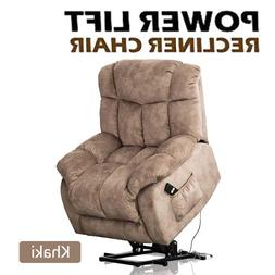 Electric Power Lift Recliner Chair Elderly Living Room Overs