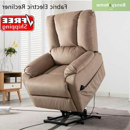 Electric Power Lift Recliner Chair Sofa Padded Seat Armchair