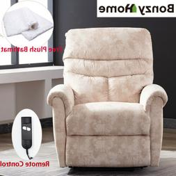 Electric Lift Recliner Chair Sofa Padded Armrest Back Remote