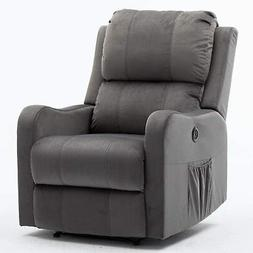 Electric Recliner Chair Sofa Modern Armchair Padded Overstuf