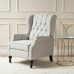 Christopher Knight Home Elizabeth Tufted Fabric Arm Chair Re