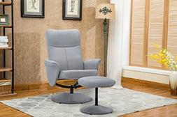 Fabric Modern Swivel Office Chair/Gaming Chair with Recliner