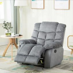 Fabric Quilted Padded Standard Recliner Manual Reclining Cha