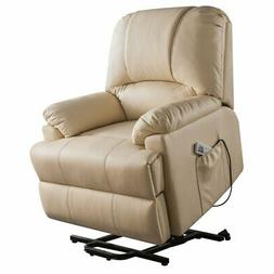 Bowery Hill Faux Leather Power Lift and Massage Recliner in