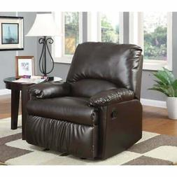 Functionally Relaxing Glider Recliner Chair, Brown Brown Sta
